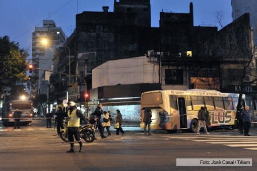 Choque de colectivos en Balvanera: 9 heridos