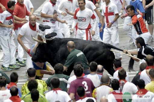 El sexto encierro de San Fermín con 7 heridos, 1 grave