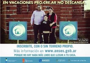 """Bossio: Pro.Cre.Ar """"es verdadera inclusión social"""""""