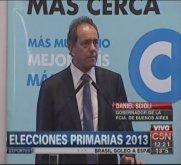 """Scioli en la Casa Rosada: """"Estamos encolumnados con vos Martín"""""""