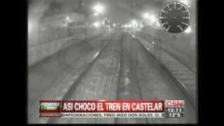Video: El choque de trenes de Castelar visto desde la cabina del motorman