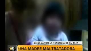 Video del maltrato de una madre a su hija