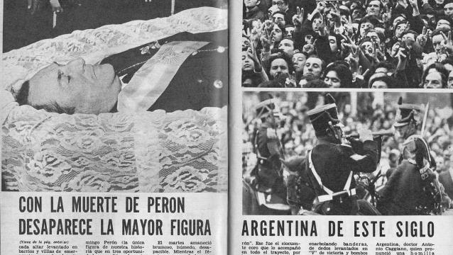 Un día como hoy moría el general Perón