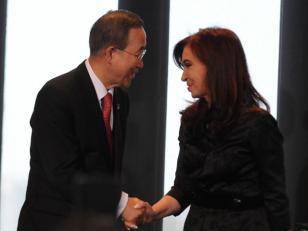 Cristina Kirchner llegó a Nueva York y se reune con Ban Ki-Moon
