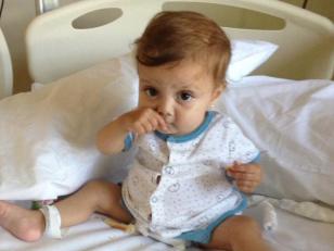 Antonia fue trasplantada de intestino