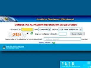 Padrón electoral para las PASO