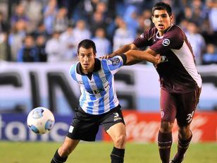 Racing ante Lanús en el partido de ida de la Sudamericana