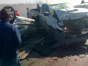 Choque múltiple en ruta 2: un muerto y 20 heridos