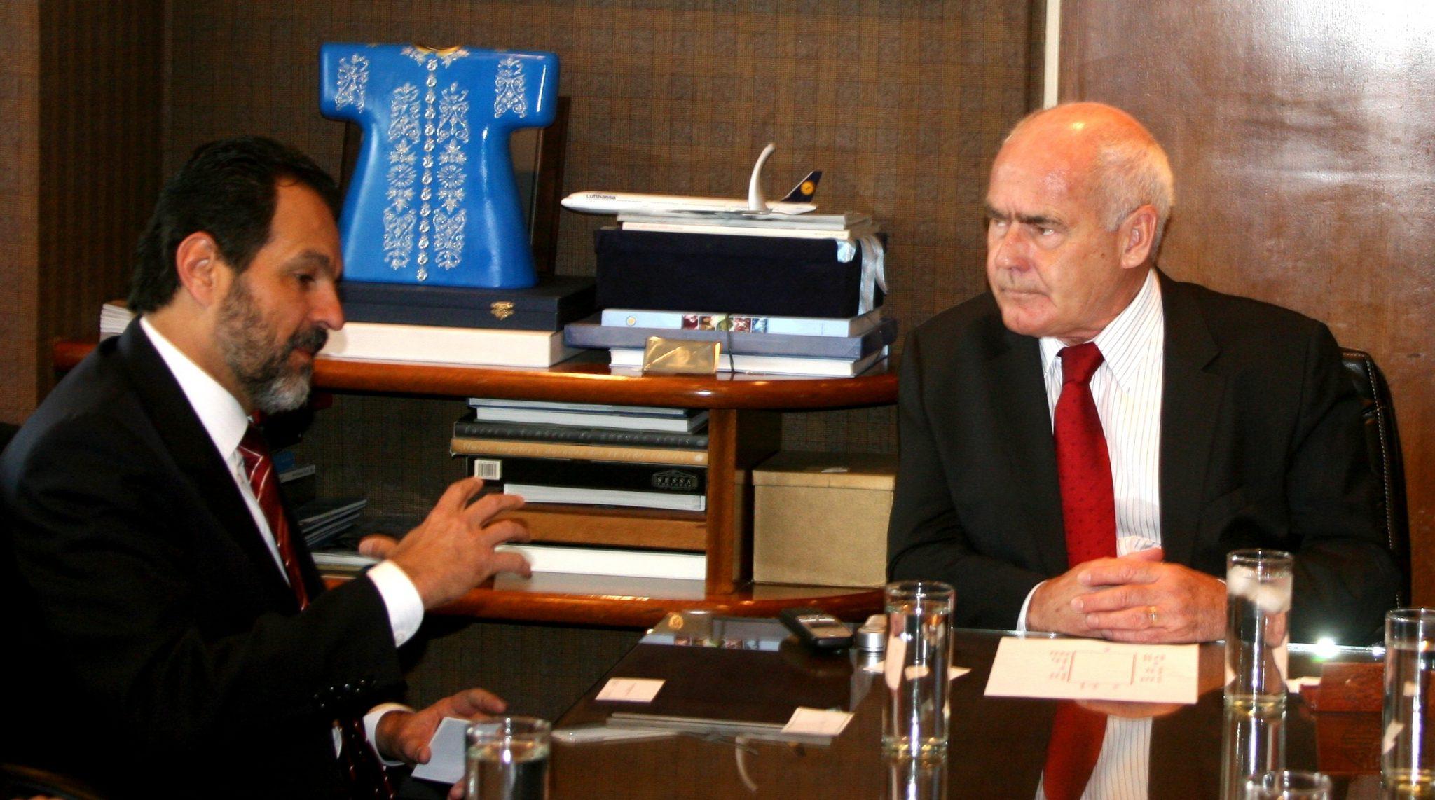 Meyer se reunió con el gobernador de Brasilia