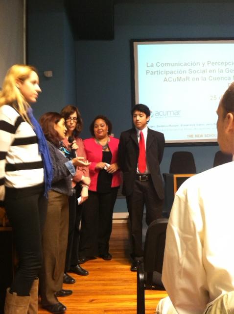Estudiantes de Nueva York presentaron estudios sobre el Matanza Riachuelo