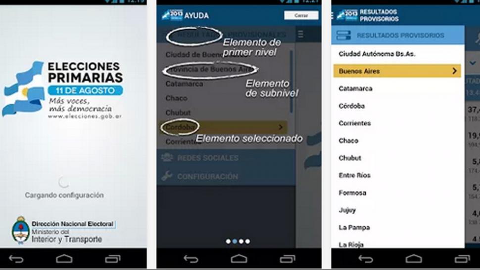 Una aplicación para seguir las elecciones minuto a minuto