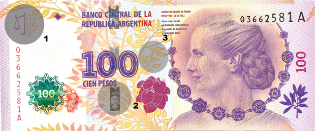 ¿Cómo detectar billetes de Evita es falsos?