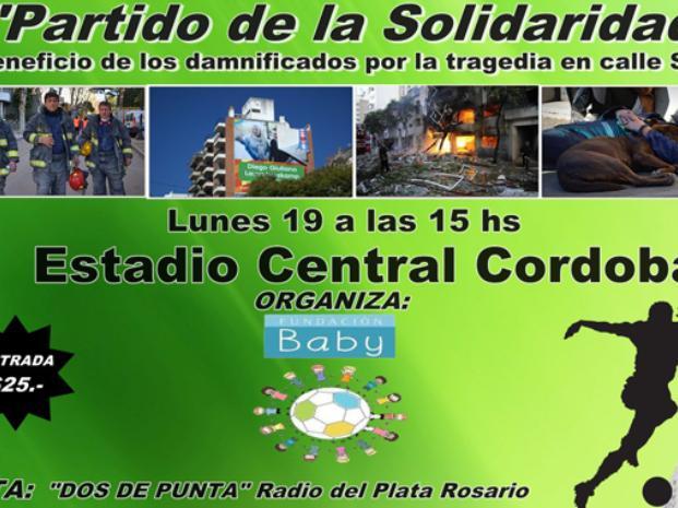 Partido solidario a beneficio de las víctimas y damnificados de Rosario
