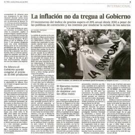 """El País sobre la economía argentina: """"Está desbocada"""""""