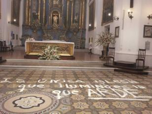 """Misa de Desagravio por """"profanación"""" al templo de San Ignacio"""