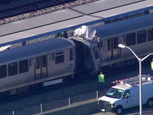 Choque de trenes en Chicago