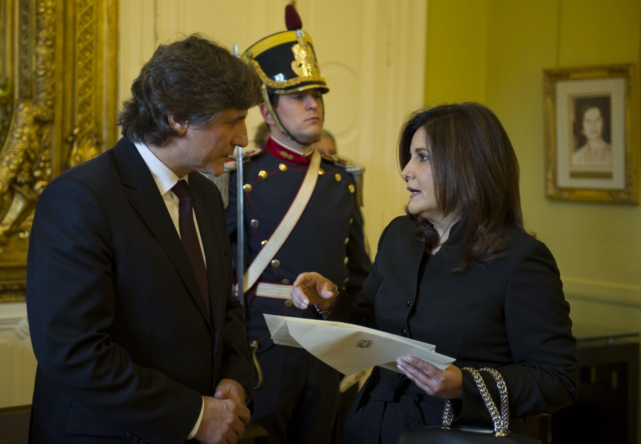 Boudou recibió las cartas credenciales de 19 nuevos embajadores