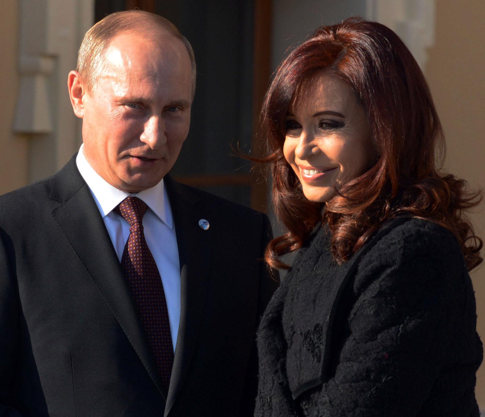 Cristina habló con Putin sobre futuras obras