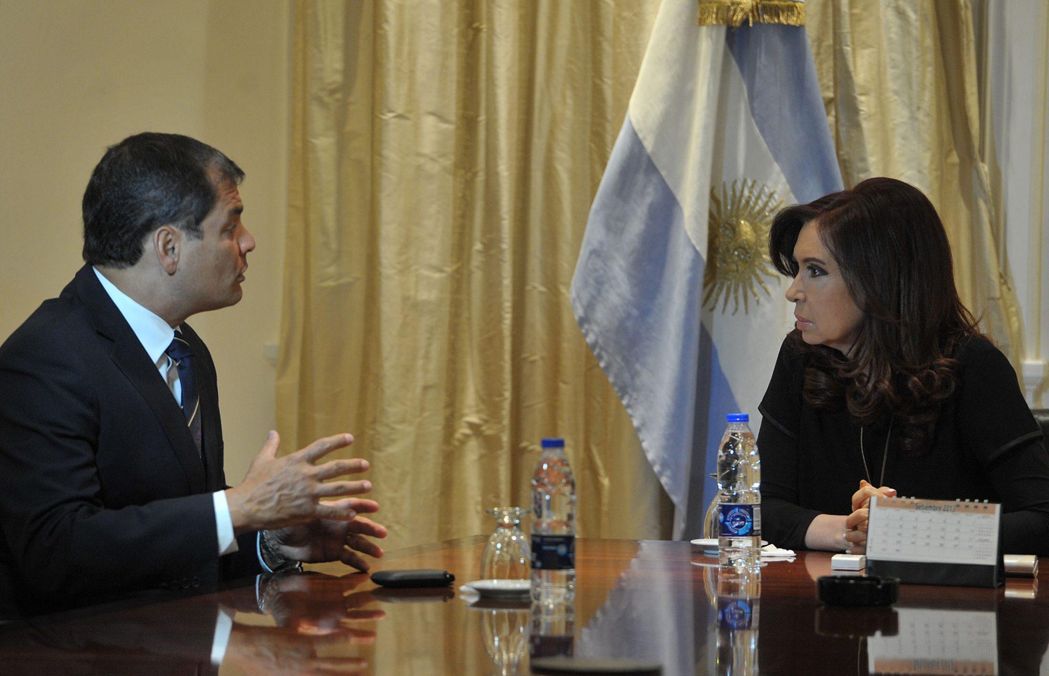 Cristina se reunió con su par de Ecuador Rafael Correa