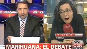 Video: El debate de Feinmann y Malena Pichot por la marihuana