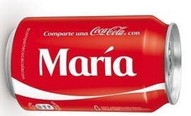 Latas de Coca-Cola con tu nombre
