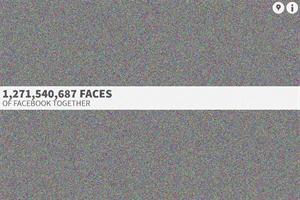 1200 millones de caras de Facebook en una sola imagen