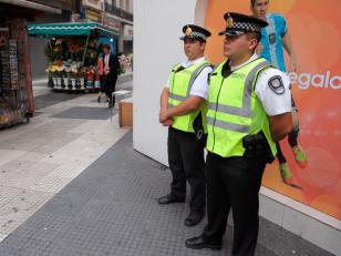 La policía Metropolitana refuerza la seguridad en la Ciudad por las elecciones