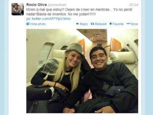 Rocío Oliva negó haber perdido un embarazo de Maradona