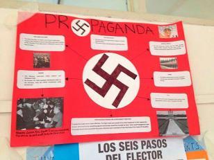 Los carteles nazis en escuela de Villa Devoto eran de un trabajo práctico de alumnos