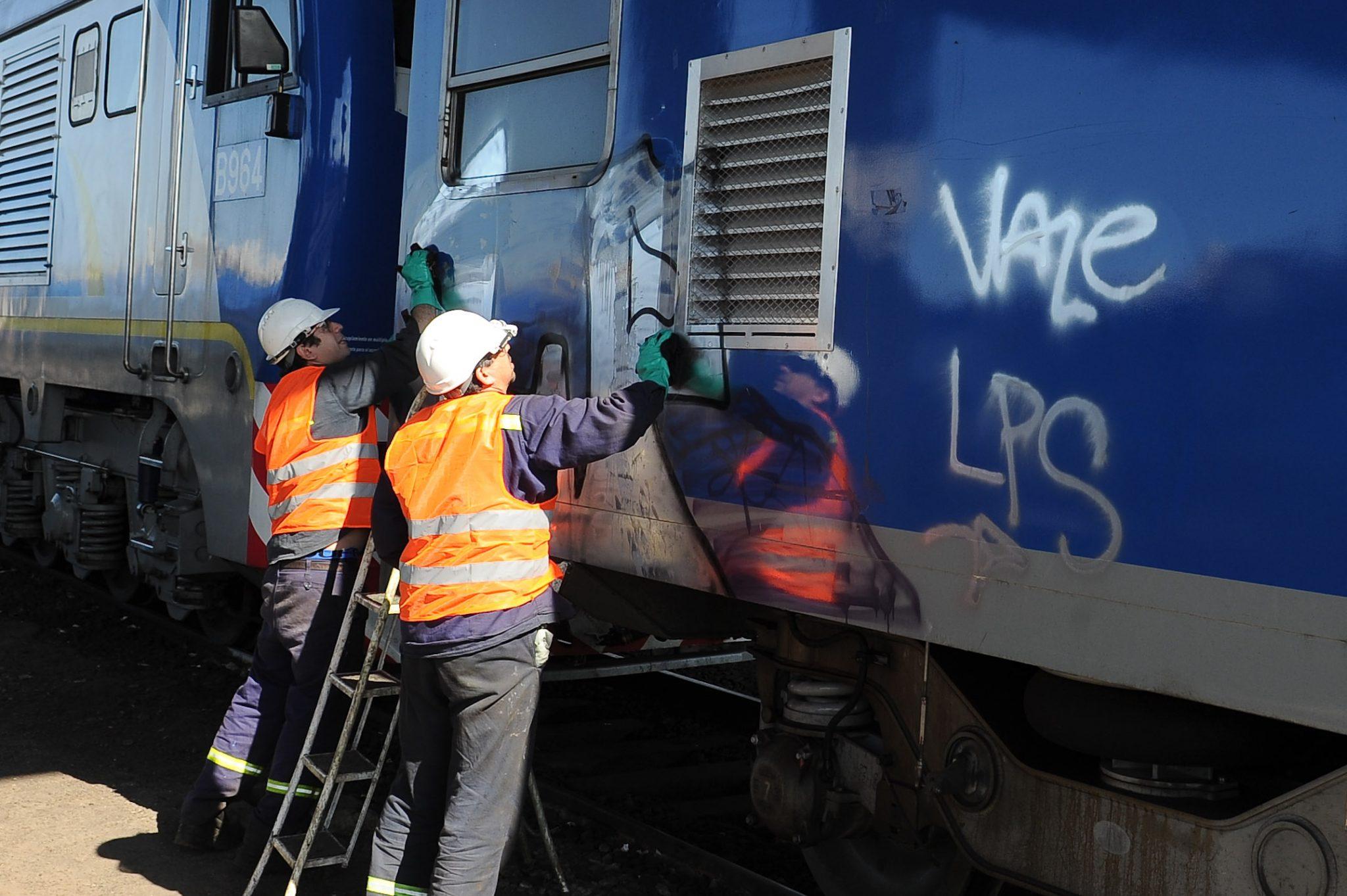 Tren de la Línea San Martín fue vandalizado