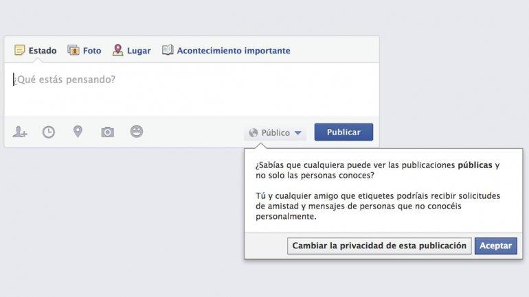 Desde ahora los usuarios de entre 13 y 17 años de Facebook podrán compartir información y fotos públicamente