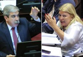 Aníbal Fernández la quiere embocar a Elisa Carrió