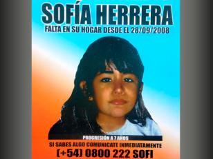 La niña hallada en Rosario no es Sofia Herrera
