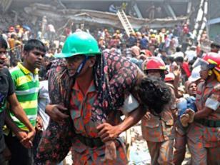 500 muertos en desplome de edificio de Dacca en Bangladesh
