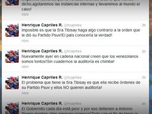 Capriles rechaza la auditoría que propone el CNE