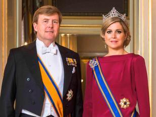 La primera foto oficial de los Reyes de los Países Bajos