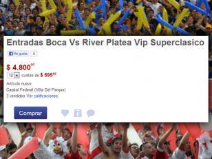Las entradas para el partido entre Boca y River a casi 5000 pesos