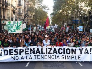 Marcha por despenalización del consumo de marihuana