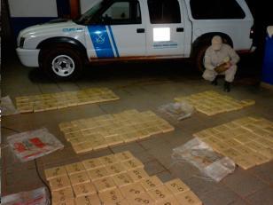 Prefectura Naval secuestró 128 kilos de marihuana en Misiones