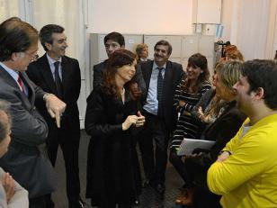 Cristina Kirchner saludó a los Periodistas en la Casa de Gobierno