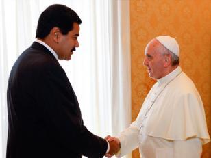 """Maduro agradeció al Papa por """"todo lo que está haciendo"""""""