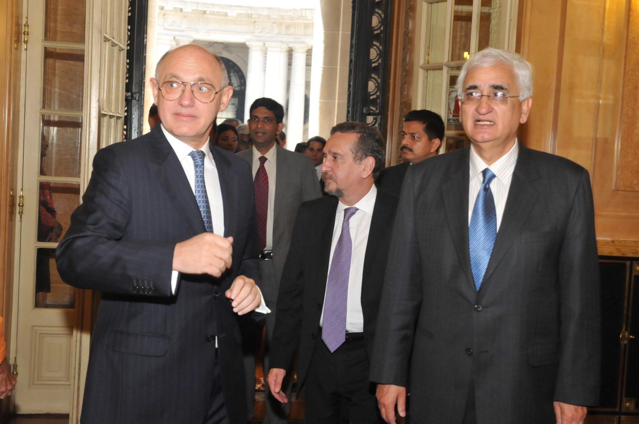 Timerman comenzó la visita oficial a la India