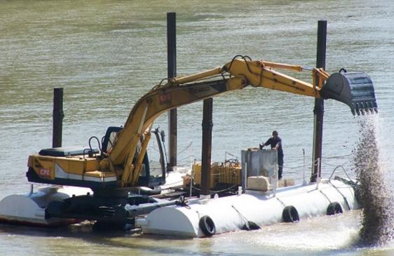 Comienzan las obras de dragado del río Uruguay
