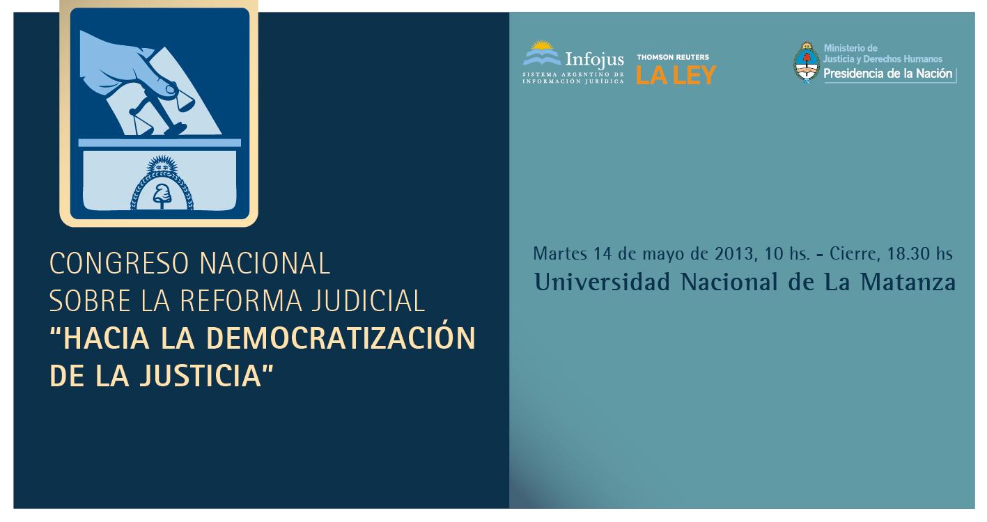 Congreso nacional sobre democratización de la Justicia