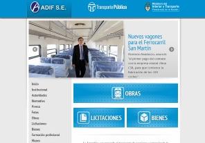 Nueva pagina web del organismo ferroviario estatal renovó su página web