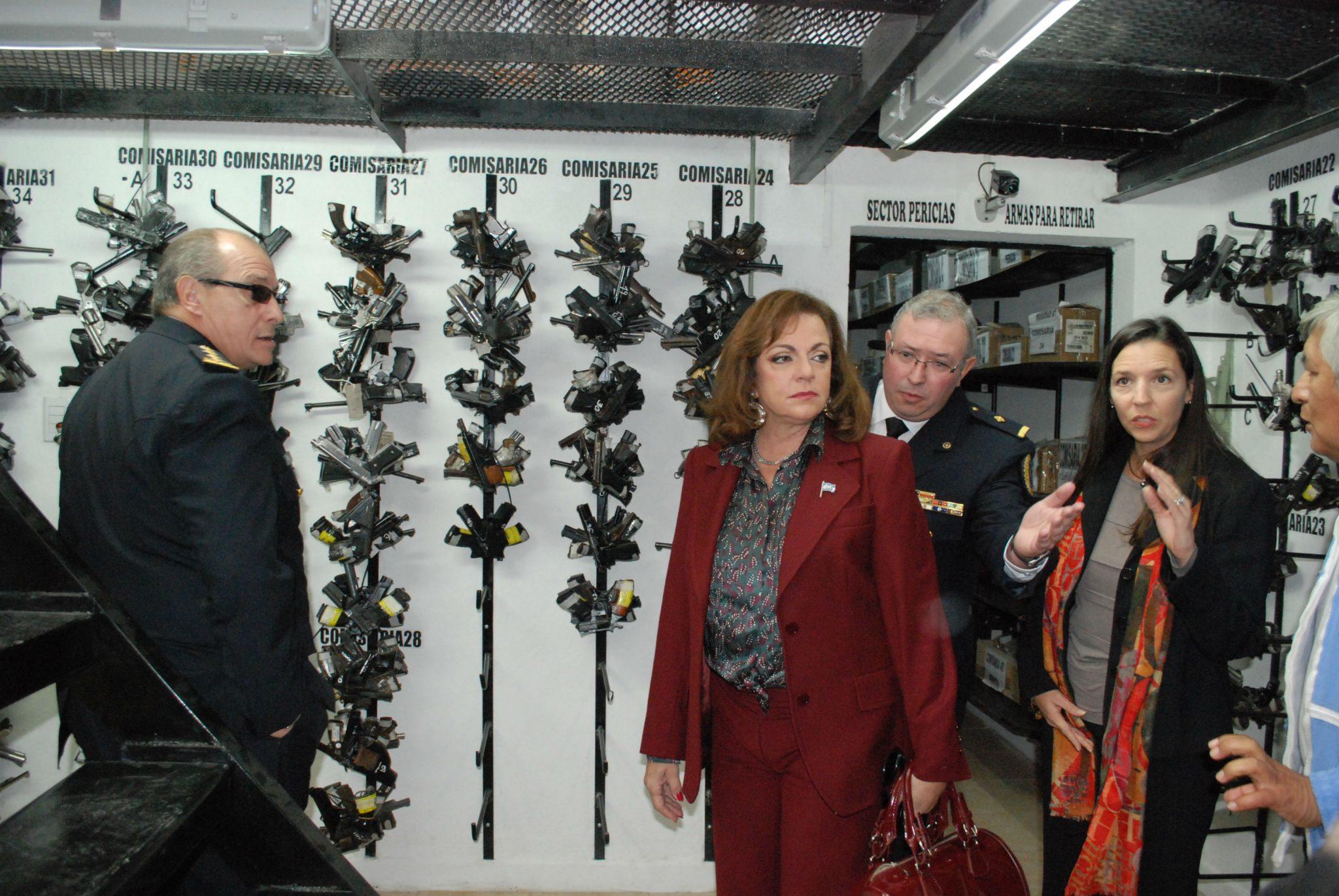 Garré inauguró un depósito para armas incautadas en causas judiciales