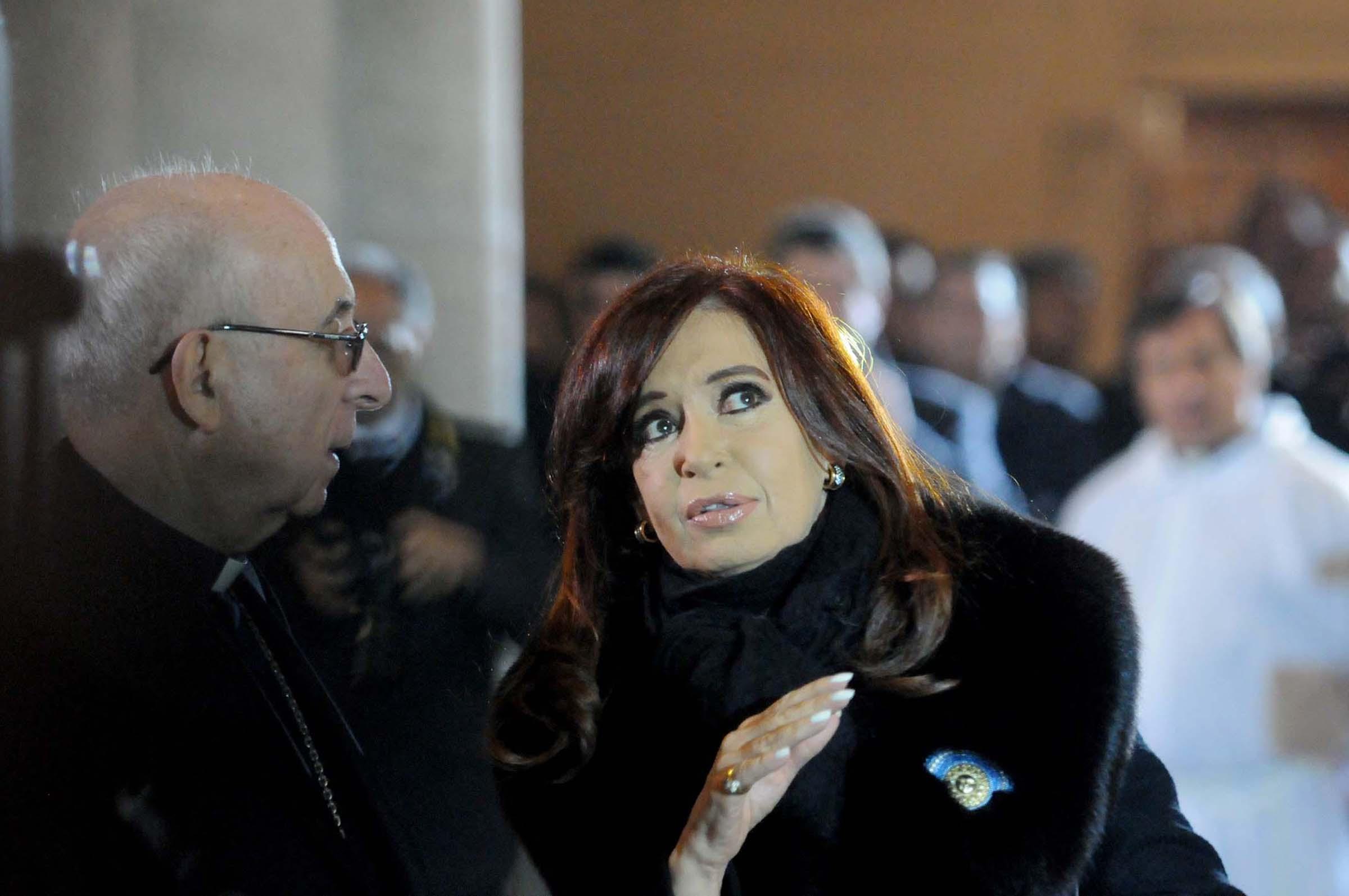 Cristina participó en la basílica de Luján del Tedeum por la celebración del 203 aniversario de la Revolución de Mayo