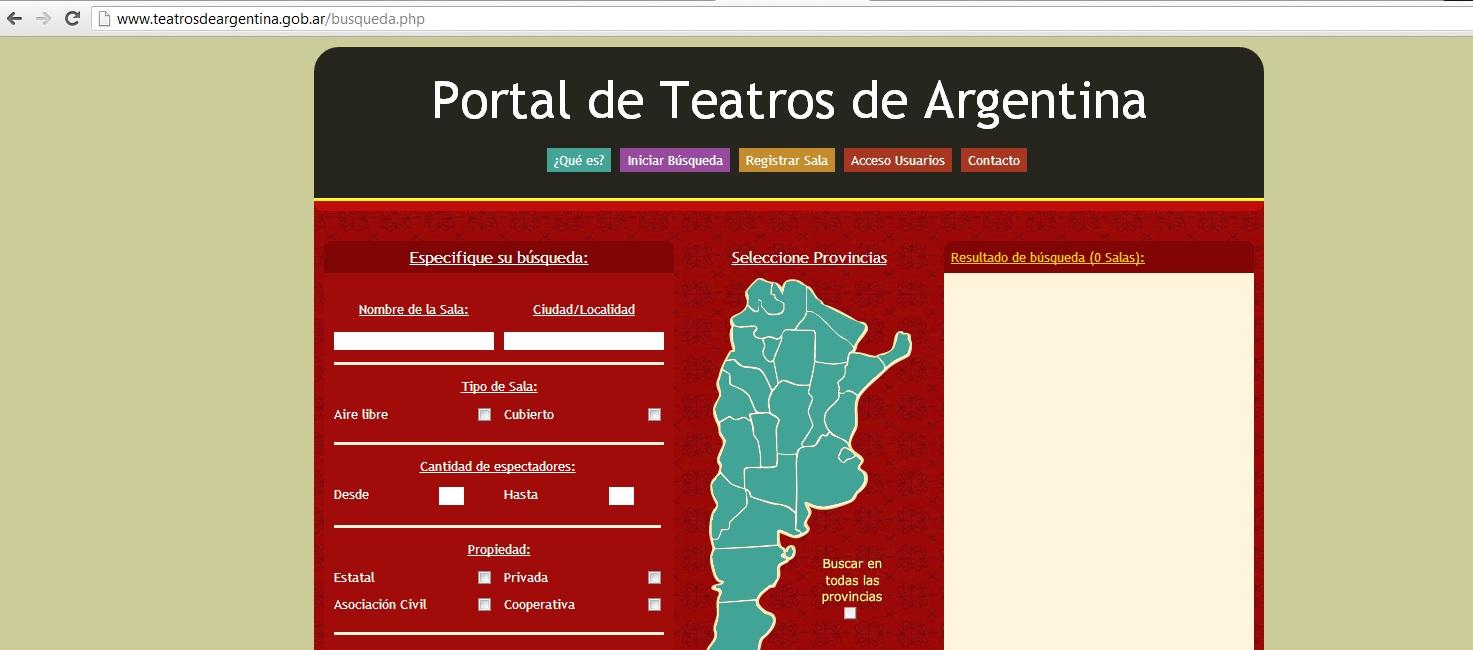Mapa de los teatros argentinos online