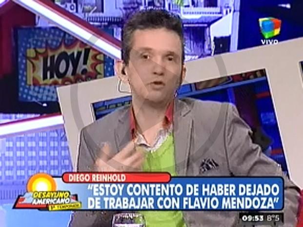 Diego Reinhold le contestó a Flavio Mendoza