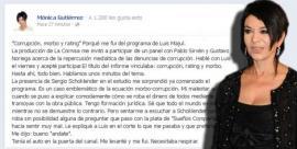 Mónica Gutiérrez se fue del programa de Majul